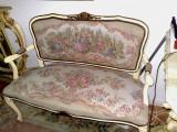 Salonas/canapea cu fotolii tapiterie goblen,stil baroc/rococo/ludovic xv, Sufragerii si mobilier salon, 1900 - 1949