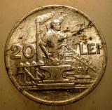 2.557 ROMANIA RPR 20 LEI 1951, Aluminiu