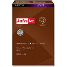 Consumabil ActiveJet Ribon compatibil Epson ERC 30 ERC 34 ERC 38 violet