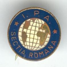 IPA - ASOCIATIA INTERNATIONALA A POLITISTILOR Sectia Romana - Insigna Rara