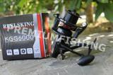 Mulineta Crap Caras Baracuda KGG 6000 Reelsking 14 Rulmenti Tambur Long Cast, Baitrunner
