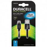 Resigilat: Duracell Cablu USB 2.0, USB5013A USB A to Micro USB 1m Negru RS125039736