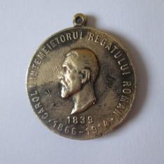 Medalia Pro Memoria regele Carol I,din anul 1914