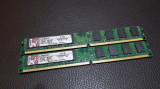 Kit 4GB DDR2 Desktop,2x2GB,Brand Kingston Slim,800Mhz,PC2-6400,CL6, DDR 2, 4 GB, Dual channel