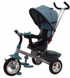 Tricicleta cu sezut reversibil si spatar rabatabil Green Typhoon, Multicolor, Baby Mix