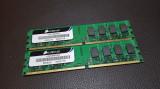 Kit 4GB DDR2 Desktop,2x2GB,Brand Corsair,800Mhz,PC2-6400,CL5, DDR 2, 4 GB, Dual channel