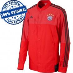 Bluza Adidas FC Bayern Munchen pentru barbati - jacheta originala, XS, Poliester, Rosu
