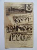 Rara! Carte postala Straja Tarii/Regele Carol II saluta membrii aproximativ 1935