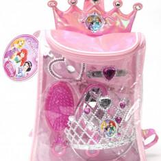 Rucsac cu accesorii pentru păr (8 piese) Disney 3 New Princess