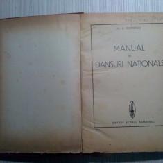 MANUAL DE DANSURI NATIONALE - Al. L. Dobrescu - Editura Scrisul Romanesc, 175 p.