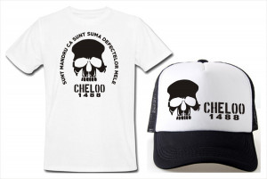 SETURI TRICOU + SAPCA > 20 CM CHELOO OMBLADON, PARAZITII, personalizat HIP- HOP