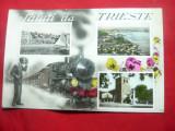 Ilustrata -Saluti da Trieste -cu tren , circ. 1925 la Turda, Circulata, Fotografie