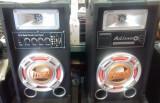 Boxe active Hi-FI cu Bluetooth, 2 intrari de microfon, Card SD, Boxe podea, 121-160W