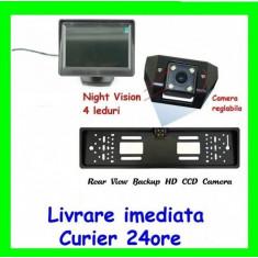 "PACHET PROMO Monitor LCD 4,3"" cu Camera Marsarier pe suport numar"
