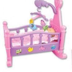 Jucarie copii pat pentru bebelusi, Fata, Roz, Plastic