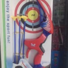 Jucarie set arc cu sageti si tinta pentru copii