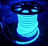 Tub luminos Neon Flex dublu, Furtun Luminos Flexibil LED 1 m albastru