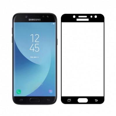 Folie sticla ecran acoperire integrala Samsung Galaxy A8 2018 Neagra foto