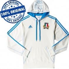 Hanorac Adidas Italia pentru barbati - hanorac original, XS, Poliester, Alb
