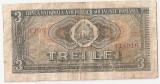 ROMANIA RSR 3 LEI 1966 F