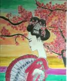 Pictura tablou Japoneza, Portrete, Acrilic, Realism