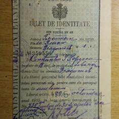M8RH - BILET DE IDENTITATE - EMIS IN ANUL 1915 !!!