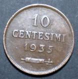 San Marino 10 centesimi 1935, Europa