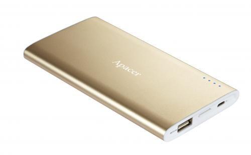 Acumulator USB portabil power bank 5000mAh cu card microSD de 16GB, Apacer