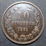 Bulgaria 10 stotinki 1881 2, Europa