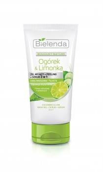 BOUQUET NATURE Gel de curatare 3 in 1 cu Castravete si Lime pentru ten mixt si gras - NVS-50279 Pure Sensation