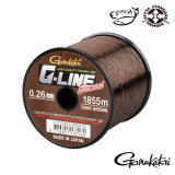 Fir de crap FIR G-LINE ELEMENT DARK BROWN 030MM.6,80KG.1325M Fishing Hunting, Gamakatsu