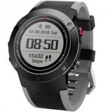 Smartwatch iUni DM18, GPS incorporat, BT, Display OLED 0.95 inch, Rezistent la apa, Negru MediaTech Power
