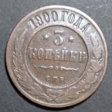 Rusia 3 kopecks 1900, Europa
