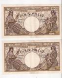 LOT 2 BANCNOTE  2000 LEI,  18 NOIEMBRIE 1941, SERII CONSECUTIVE