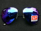 OCHELARI DE SOARE RAY BAN AVIATOR 3025 LENTILA BLUE MIRROR-(WAYFARER CLUBMASTER), Unisex, Protectie UV 100%