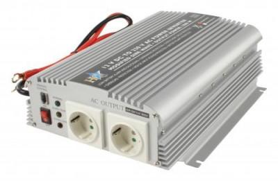 Invertor de tensiune 12V-230V,1000W,HQ foto
