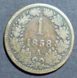 Austria 1 kreuzer 1858 A, Europa