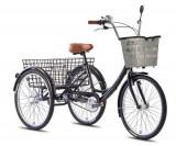 Tricicleta adulti Leader Fox Bormio - negru New Cycling