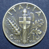 Italia 10 centesimi 1939, Europa