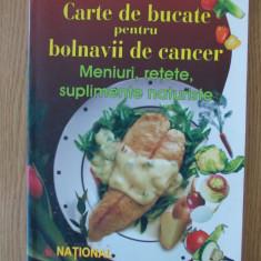 CARTE DE BUCATE PENTRU BOLNAVII DE CANCER- D. CHIRIAC