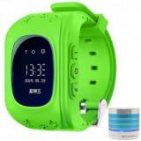 Smartwatch cu GPS pentru copii iUni Kid60, Telefon incorporat, BT, Apel SOS, Activity and sleep, Green + Boxa Cadou MediaTech Power
