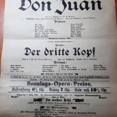 1898 -afis vechi cu reclama piesa de teatru si multe alte reclame pe verso