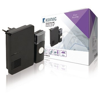 Sonerie Wireless 70 dB negru, Konig foto