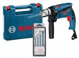 Masina de gaurit Bosch GSB 13 RE + set 4 burghie MultiConstruction in valiza Expert Tools