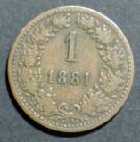 Austria 1 kreuzer 1881 2, Europa