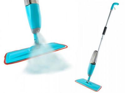 Mop Plat cu Rezervor si Pompa Pulverizare Detergent pentru Spalare Podele foto