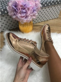 Pantofi dama aurii oxford marime 36,  38, 39+CADOU, Din imagine, Cu talpa joasa