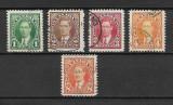 Canada 1937, serie completa, Stampilat