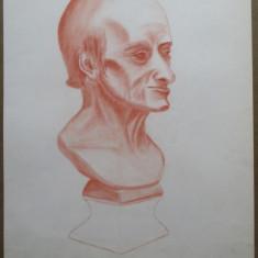 Statueta, Profil de barbat - semnat  S.Keunings '68