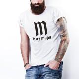 Tricou bug Mafia  20 CM RECORDS  PARAZITII, personalizat HIP-HOP, RAP, L, M, S, XL, XXL, Maneca scurta, Alb, Negru